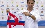 Farid Benstiti avec le maillot de Rossiyanka (photo club)
