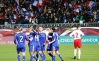 Les Bleues lors du dernier match face à la Pologne (photo : S. Duret)