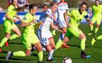 Dafeur, Hegerberg et Coutereels lors du match retour en championnat (1-0) (photo OL)