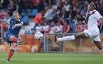 Les deux derniers buts de Thiney avec les Bleues, c'était face au Canada et c'était déjà un doublé (Photo : Eric Baledent)