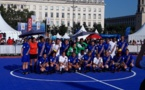 Les FIFA Legends face à une sélection tricolore vendredi soir place Bellecour (photo Sébastien Duret/FOF)