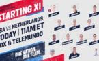 Coupe du Monde - ETATS-UNIS - PAYS-BAS : les compos, Rapinoe débute