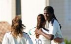 Shaw a inscrit son premier but avec Bordeaux de la tête face à la Chine (photo FCGB)