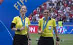 Manuela Nicolosi et Stéphanie Frappart, le duo français en finale le 7 juillet dernier (photo Eric Baledent/FOF)
