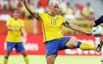 Nilla Fischer a inscrit le premier but suédois de l'année 2012 (photo archive)