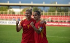 Les deux macédoniennes auteures d'un doublé face au Kazakhstan dans le groupe de la France (photo FFM)