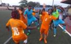 Les Eléphantes fêtent leur qualification (photo FIF)