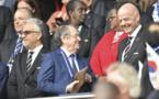 Gianni Infantino à droite avec Noël Le Graët (photo Eric Baledent)
