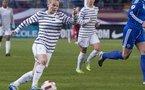 Eugénie Le Sommer a permis aux Bleues de revenir dans la partie (Photo archives Eric Baledent)