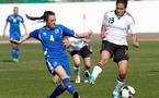 Celia Okoyino Da Mbabi, à droite et l'Allemagne se sont imposées 1-0 (photo DFB)