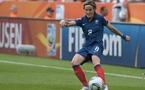 Sonia Bompastor se souviendra longtemps de ce match contre l'Angleterre (Photo : Eric Baledent)