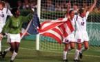 Avec trois médailles d'Or comme ici en 1996, les Etats-Unis dominent les JO