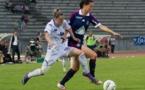 Gwenaëlle Butel et Lotta Schelin au duel, Juvisy et OL joueront aussi la Ligue des Champions cette saison (photo W Morice)