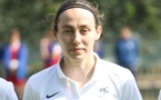 Sabrina Delannoy a disputé son premier match en A (photo S Duret)