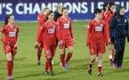 Les Allemandes de Potsdam têtes basses à l'issue du match (photo Dfb)