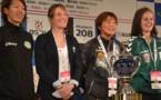 Les capitaines des trois autres équipes avec Sonia Bompastor (photo olweb)