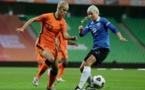 La Bordelaise Katja Snoeijs a marqué son premier but en sélection (photo KNVB)