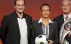 Bruno Bini lors du tirage au sort de l'Euro (photo uefa.com)