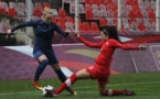 Julie Soyer et la défense tricolore aura été peu sollicitée (photos Sébastien Duret)