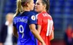 La France et la Suisse avait concédé un nul 1-1 lors de leur dernier match à l'Euro 2017, ici avec Le Sommer et Bachmann, désormais au PSG (photo archive UEFA)
