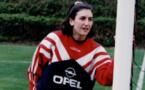 Marinette Pichon en stage à Clairefontaine en 1995