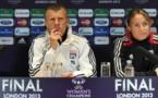 Patrice Lair et Sonia Bompastor (photo uefa)