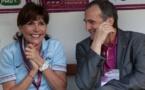 Liane Foly avec Bruno Bini avant France - Australie (photo Eric Baledent/LMP)