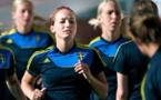 Kosovare Asllani et la Suède, prêtes à débuter (photo SVF)