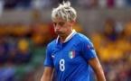 Frustration pour l'Italie de Melanie Gabbiadini (photo UEFA)