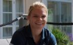 """""""On a toutes envie de marquer des buts"""", lâche Eugénie Le Sommer tout sourire à Norrköping (photos Eric Baledent/LMP)"""