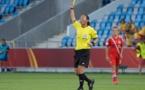 L'arbitre suédoise réussie aux Bleues (photo Eric Baledent)