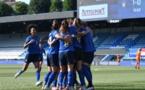 Les Italiennes se congratulent après le seul but du match (photo FICG)