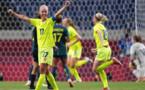 Caroline Seger, lors du match de groupe face à l'Australie (photo FIFA.com)