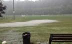 A Saint-Romain de Surieu, pour son premier match en D2, l'orage a eu raison du match