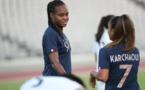 Un triplé de Katoto, trois passes décisives de Karchaoui, le duo sera-t-il reconduit face à la Slovénie ? (photo A. Mesa/FFF)