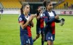 Jessica Houara et Laura Georges, déçues mais pas abbatues (photo Tyresö FF)