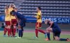 Le PSG est à terre, Tyresö exulte (photo Eric Baledent)
