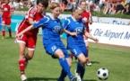 Stefanie Draws (avec le ballon) et son équipe partiront avec des intentions offensives lors de cette confrontation (photo FFC Turbine)