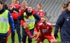La joie des filles de Potsdam est à l'image de leur performance : sensationnelle comme le déclarera leur coach à l'issue de la rencontre