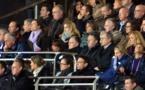 Jean-Michel Aulas, descendu à la pause au vestiaire et ici en tribune en seconde période, a reconnu la supériorité de Potsdam sur ce match (Photo : Alex Ortega)