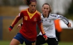 Vainqueur de l'Allemagne quatre à zéro en poule, l'Espagne d'Andréa Sanchez tentera de récidiver (photo UEFA)