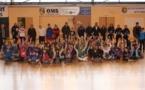 Quelque cent vingt jeunes filles ont participé à la huitième édition de la promotion du futsal féminin samedi. Photos DR