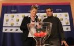 Brigitte Henriques et Philippe Bourgeois lors du tirage au sort (photo FFF)
