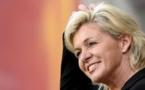 Silvia Neid a expliqu que son prix d'entraîneur 2013 honorait le football allemand tout entier (Photo fifa.com)