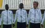 Makanza, Mbock Bathy et Hamraoui ont fêté leur première titularisation (photo Sébastien Duret)