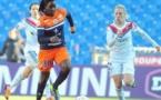 Marina Makanza, ici à la lutte avec la Lyonnaise Lara Dickenmann, affirme que son équipe gagne en ambition d'années en années (Photo : MHSC).
