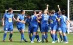 Les joueuses d'Algrange fêtant leur but (photo LAFA)