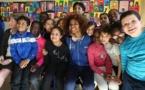 Laura Georges de passage dans une école en mars dernier (photo FFF)
