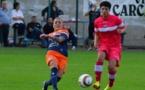 Valérie Gauvin, meilleure buteuse de D2, à droite, évoluera désormais sous les couleurs de Montpellier avec Kelly Gadea, à gauche