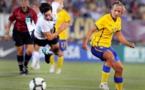Malin Levenstad (à droite) compte huit sélections en équipe nationale (photo AP)